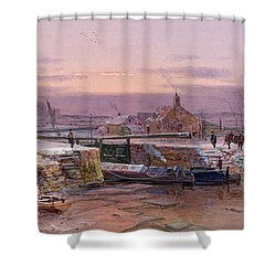 The House By The Canal Shower Curtain by Charles Brooke Branwhite