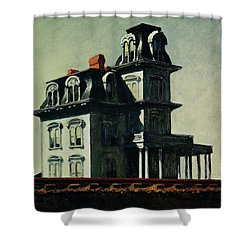 The House By The Railroad Shower Curtain by Edward Hopper