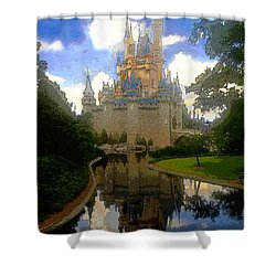 The House Of Cinderella Shower Curtain by David Lee Thompson