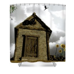The House Of Light And Shadow Shower Curtain by Cynthia Decker