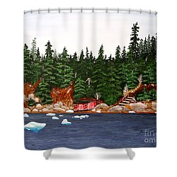 The Ice Took It Shower Curtain by Barbara Griffin