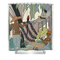 The Idle Beauty Shower Curtain by Georges Barbier