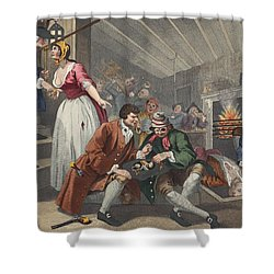 The Idle Prentice Betrayed Shower Curtain by William Hogarth