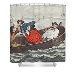 The Idle Prentice Turned Away And Sent Shower Curtain by William Hogarth