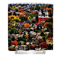 The Immaculate Conception Church Of Seattle Shower Curtain by Benjamin Yeager