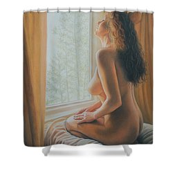 The Incredible Lightness Of Being Shower Curtain by Holly Kallie