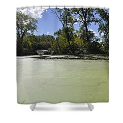 The Indiana Wetlands Shower Curtain