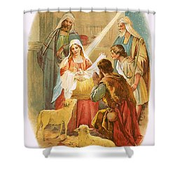 The Infant Jesus Shower Curtain by English School