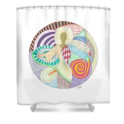 The Inner Goddess Shower Curtain by Signe  Beatrice