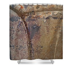 the Intersection Shower Curtain by Fran Riley