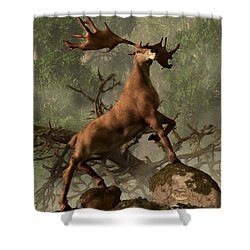 The Irish Elk Shower Curtain