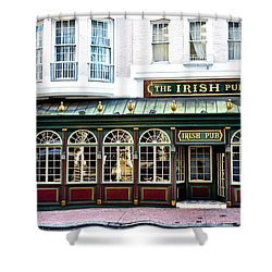 The Irish Pub - Philadelphia Shower Curtain by Bill Cannon