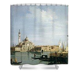 The Island Of San Giorgio Maggiore Shower Curtain by Canaletto