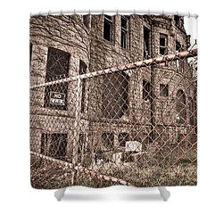 The James Scott Mansion Shower Curtain by Priya Ghose