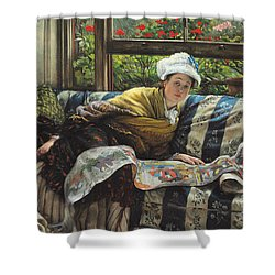 The Japanese Scroll Shower Curtain by Tissot