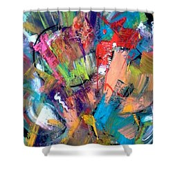 Jazz Abstract Painting Shower Curtain by Kelly Turner