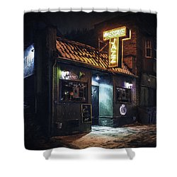 The Jazz Estate Nightclub Shower Curtain