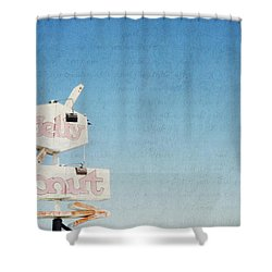 The Jelly Donut - California Shower Curtain by Lisa Parrish