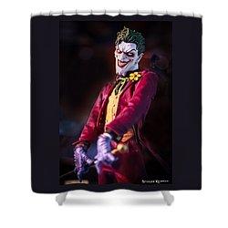 Shower Curtain featuring the photograph The Joker Dummy by Stwayne Keubrick
