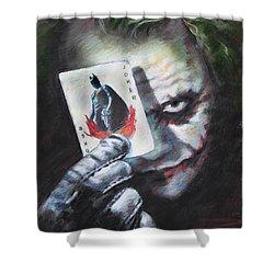 The Joker Heath Ledger  Shower Curtain by Viola El