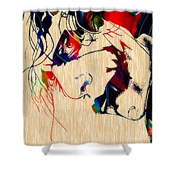 The Joker Heath Ledger Collection Shower Curtain by Marvin Blaine