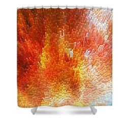 The Journey - Abstract Art By Sharon Cummings Shower Curtain by Sharon Cummings