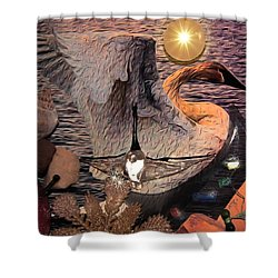 Shower Curtain featuring the photograph The Journey by Kathy Bassett