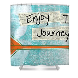 The Journey Shower Curtain by Linda Woods