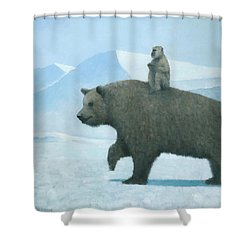 The Journey Shower Curtain by Steve Mitchell