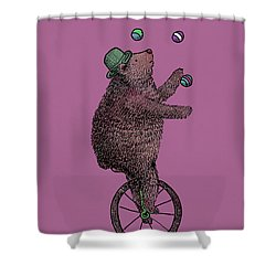 The Juggler Shower Curtain