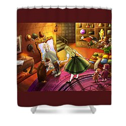 The Kakuna Haberdashery Shower Curtain