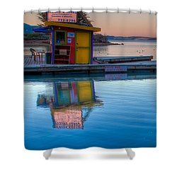 The Kayak Shack Morro Bay Shower Curtain