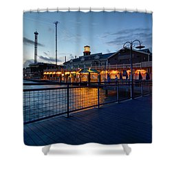 The Kemah Boardwalk Shower Curtain by Linda Unger