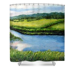 The Kennebecasis River Shower Curtain