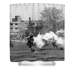 The Kent State Massacre Shower Curtain by Underwood Archives