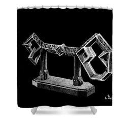The Key To Erebor Shower Curtain by Kayleigh Semeniuk