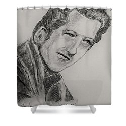 The Killer-2 Shower Curtain by Barry Jones