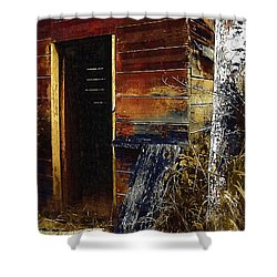 The Killing Shed Shower Curtain by RC DeWinter