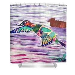 The King Canvasback Shower Curtain