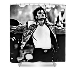 The King Of Pop Shower Curtain