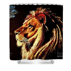 the King Shower Curtain by Viktor Lazarev