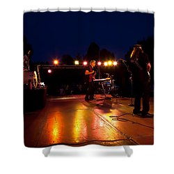 The Kingpins Rock Pullman Shower Curtain by David Patterson