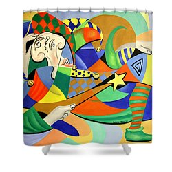 The Kings Jester Shower Curtain by Anthony Falbo