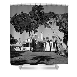 The Kingsley Plantation Shower Curtain by Lynn Palmer
