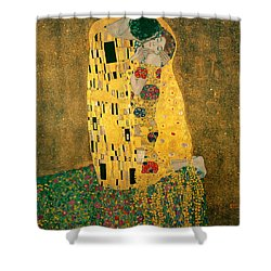 The Kiss Shower Curtain by Gustive Klimt