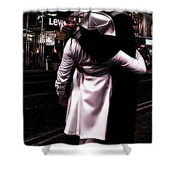 The Kiss In Times Square Shower Curtain