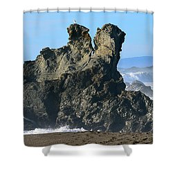 The Kissing Rocks Shower Curtain