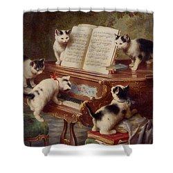 The Kittens Recital Shower Curtain
