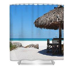 Shower Curtain featuring the photograph The Kokonut Hut  by Margie Amberge