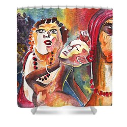 The Ladies Of Loket In The Czech Republic Shower Curtain by Miki De Goodaboom